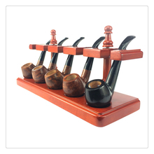 Smoker 5 Seat of Smoking Pipe Square Style Rosewood Pipe Stander Rack Best Gift for man Tobacco Pipe Holder YDJ04