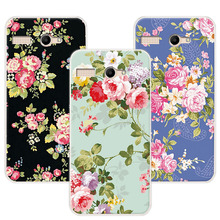 "Luxury Floral Soft TPU Phone Case Fundas For Micromax Bolt Q346 Case Art Printed Flower Cover Capa For Micromax Q346 4.5"" Coque(China)"
