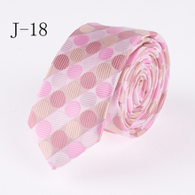 Fashion 5cm Design Tie Pink Dot Necktie High Quality Classic Jacquard Woven Gravatas for Adult(China)