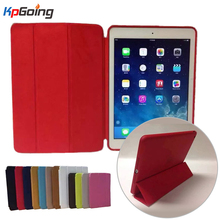 Business Solid Case for Apple Ipad 3 4 Flip Stand Three Fold Cover Fashion Case for  Ipad 2 Fundas Pu Leather Case Pink Green