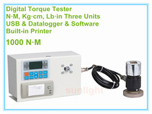 DTM-1000P 1000N.M Digital Torque Tester with N.M / Kg.cm / Lb.in three measuring units and Built-in Printer(China)