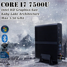 Intel Core i7 7500U DDR4 Ram Eglobal Nuc Kaby Lake Mini PC Win10 Fanless Computer 3.5GHz Intel HD Graphics 620 4K TV Box HTPC