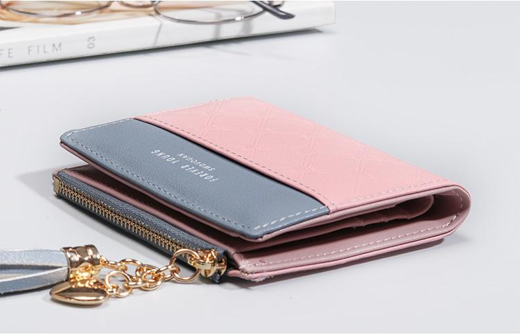 PU Leather,wallet female,wallet female women zipper,Fashion,Casual,Vintage,Black,Red,Brown,Blue,Pink wallet female leather (9)