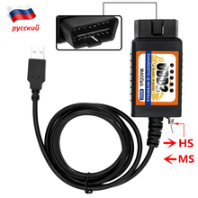 MAOZUA MZ327 USB OBD2 with Switch Diagnostic Scanner Support for FORD Models Open Hidden ELM327 For  Forscan ELMconfig Focccus