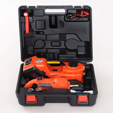 free shipping emergency tool box multifunction electric hydraulic jack and wrench with inflating pump for sedan lift(China)