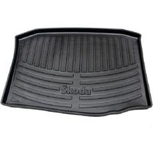 special rear car trunk mats for Skoda sharp rubber rugs latex carpets after the warehouse no odor waterproof stereo high-side