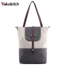 Big Capacity Cotton Canvas Handbags Eco Daily Female Double Shoulder Shopping Tote Women Beach Bags Travel Bag Free Ship A-67(China)