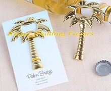 (25 pieces/lot) Unique Wedding Decorations of Palm Tree Bottle Opener wedding souvenirs for beach wedding favors Free shipping(China)