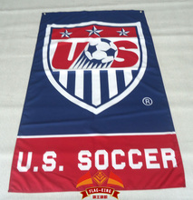 Team USA Soccer Soccer Banner Flag 3' x 5' Custom Football Flag(China)