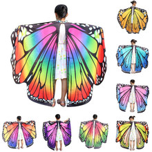 CHAMSGEND Butterfly Wings Shawl Scarves Nymph Pixie Poncho Costume Accessory Coat Kid Baby Girl Sep20 Drop shipping(China)