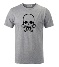Punk Fashion Poison Skull Cool Cotton Round Neck Printed Short Sleeves T-Shirt Men's Boy's Graphic Tee Tops T shirt White Red