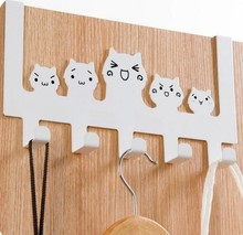 Cat wall hook decorative door hanger white black kitchen hook bags organizer hanger 5