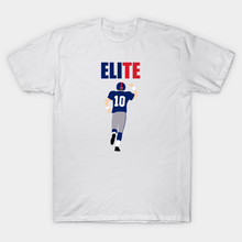 Eli Manning Giants mens t shirts top quality fashion O-neck short sleeve Tees cmt(China)