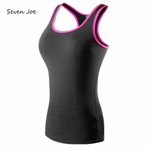 Seven Joe Yoga Tops women Sexy Gym Sports Vest Fitness Running tight Sleeveless shirt Quick Dry Fit Tank Top Yoga Wear clothing(China)
