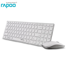 Rapoo 9300P Ultra thin Optical Wireless Keyboard and Mouse Combo kit for apple PC Laptop & Android smart TV & win7/8/10 computer(China)