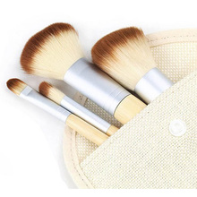 1set/4Pcs Professional Foundation Make up  Bamboo Brushes  Makeup Brush Cosmetic Set Kit Tools Eyeshadow Blush Brush