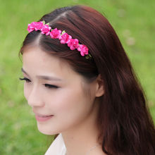 Stylish Headband Sweet  Flower Floral Festival Summer Florence Crown Small Petal Garland Wedding Prom flower Hair Accessories