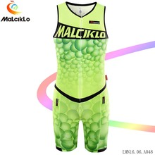 Malciklo Cycling Clothing Jumpsuit 2017 Men Bubble V-neck Elasticity Fit  Bicycle Clothes Road Bike Coverall with pad