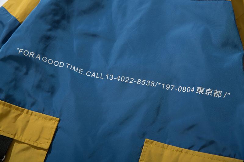 Color Block Patchwork Half Zipper Pullover Jackets 15