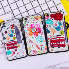 Cartoon Cute London Bus Flower Cases For Apple iPhone 6 6s 6plus 6s Plus 7 7plus Case Capinha Coque Funda Soft TPU Silicon Cover(China)