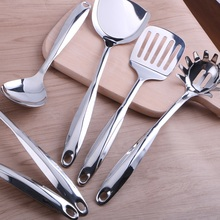 High-grade Stainless Steel Kitchenware Shovel Spoon Spatula Dinnerware Set Cookware Sets Kitchen Catering Free Shipping(China)