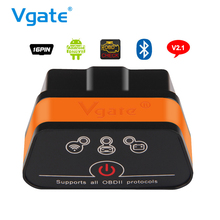 Original Vgate iCar2 Wifi OBD2 ELM327 China ELM 327 v2.1 Wi Fi OBDII Diagnostic Tool Scanner Wi-Fi OBDII For iPhone iOS Android