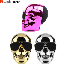 Portable Plastic Metallic SKULL Wireless Bluetooth Speaker Sunglass NFC Speaker for Desktop PC/Laptop Notebook/Mobile Phone/MP3