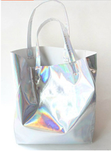 Promotion !!! Hot Sale PU Hologram Bag Hologram Laser Shopping Bag Messenger Bag Street Bag Free Shipping