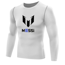 MESSI footballer Mens Compression Tee Shirts FC Barcelona Quick Dry T-shirt Fitness boy Base Layer long tees shirt Bodybuilding(China)