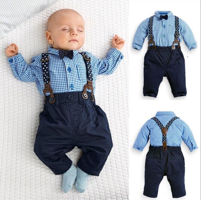 Baby boys Set Fashion Children boys clothing set Blue boys Shirt + Pants Kid outfits Child clothes set<br><br>Aliexpress