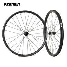 wheelset 650b carbon XC 30mm 27er wheel with taiwan Novatec/Powerway quick release/thru axle straight pull hub&pillar 1423 spoke