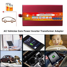 4000W Car Power Converter DC 12V Input Power Inverter Portable Vehicle Power Adapter For Hiking Travelling(China)
