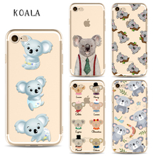 Nice Pretty Koala Phone Cases for iphone 6 6s 6Plus 7 7s 7plus Soft Slim TPU Soft New Likeable Mobile Phone Cover Case
