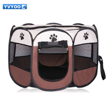 YVYOO Portable Folding Pet tent Dog House Cage Dog Cat Tent Playpen Puppy Kennel Octagonal Fence outdoor Pet products A08(China)