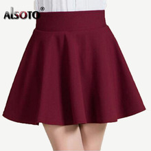 New 2017 Summer style sexy Skirt for Girl lady Korean Short Skater Fashion female mini Skirt Women Clothing Bottoms(China)