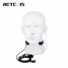 2 Pin Throat Mic PTT Headset  for KENWOOD BAOFENG BF-888S UV-5R Retevis H777 TYT Ham Radio Walkie Talkie C9026A