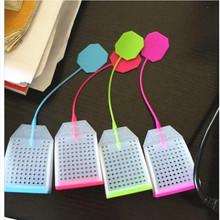 1 Pcs Bag Shape Silicone Tea Strainer Herbal Spice Infuser Filter Diffuser Kitchen Tools Free Shipping(China)