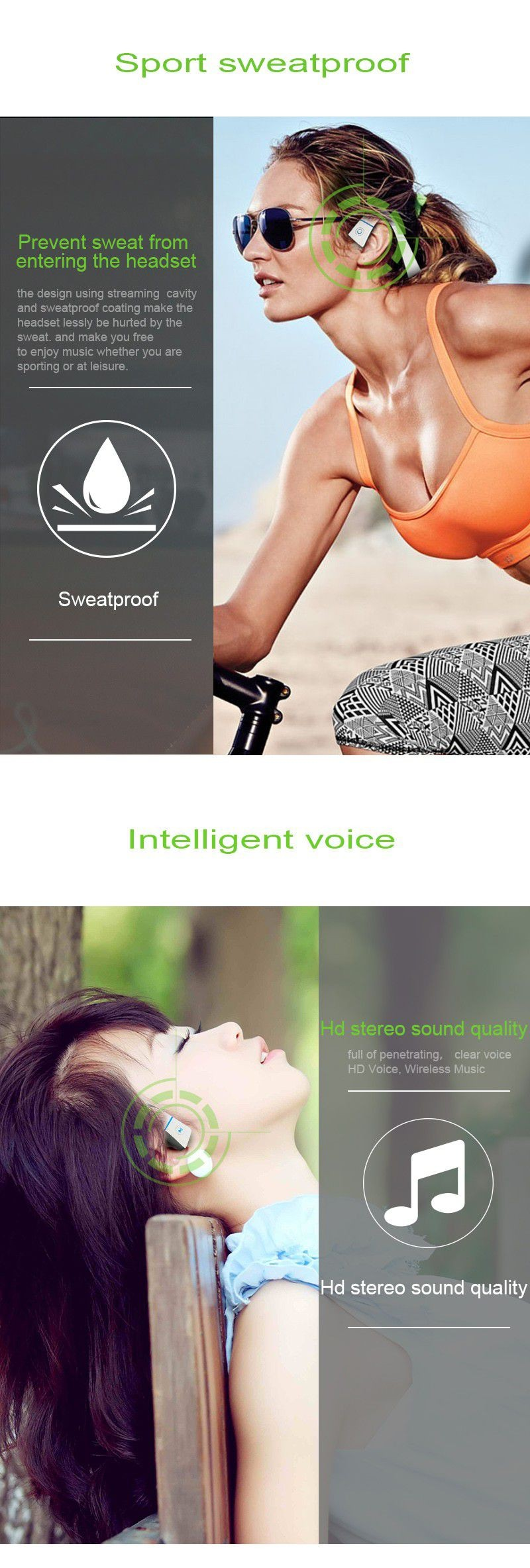 DOITOP Smart LF-18 Bone Conduction NFC Earphone Wireless Bluetooth Stereo Headset BT Waterproof Hands-free Neck-strap Headphone
