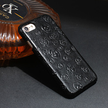 Original Natural Real Genuine Cow Leather Cases For iPhone 7 Plus 7Plus Cell Phone Luxury 3D Pirate Skull Back Cover Case