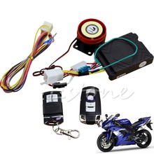 Motorcycle Scooter Remote Control Anti-theft Engine Start Alarm Security System(China)