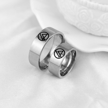 New Product Linkin Park Mark Stainless Steel Ring Music Rock Band Rings Silver Plated Fashion Jewelry(China)