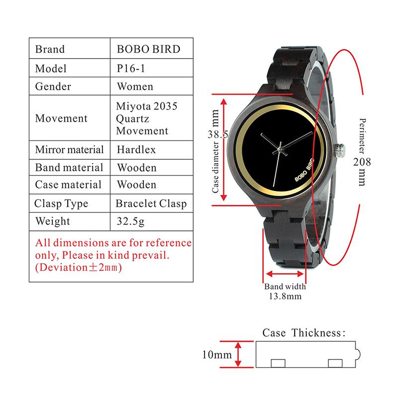 ساعة يد نسائية BOBO BIRD الخشبية الاصلية 1