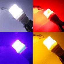 4Pcs T10 W5W 194 168 LED Car Heat Durable Ceramic Light 2835 3SMD White Red Blue Yellow Wedge Side Maker License Plate Lamp 12V