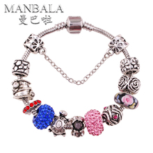 MANBALA 2016 New Bracelet Rhinestone Bead Charm Hand Bangles for Women with Stones Wristband Fun Gifts Rosary Bracelet T01AY