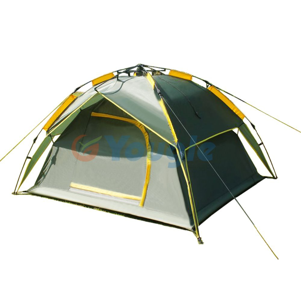 Multifunctional Dual-purpose 3-4 Person Double Layer Rian-proof Automatic Folding Outdoor Hiking Camping Tent<br><br>Aliexpress