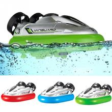 Hot Sale New Arrival 4 Color Mini RC Speedboat Sport Hovercraft Hover Boat Toy 777-220(China)