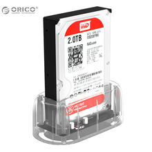 "ORICO 2.5""3.5"" Transparent Design USB3.0 to SATA3.0 HDD Docking Station Support 8 TB Hard Disk Drive Tool Free for Notebook PC(China)"