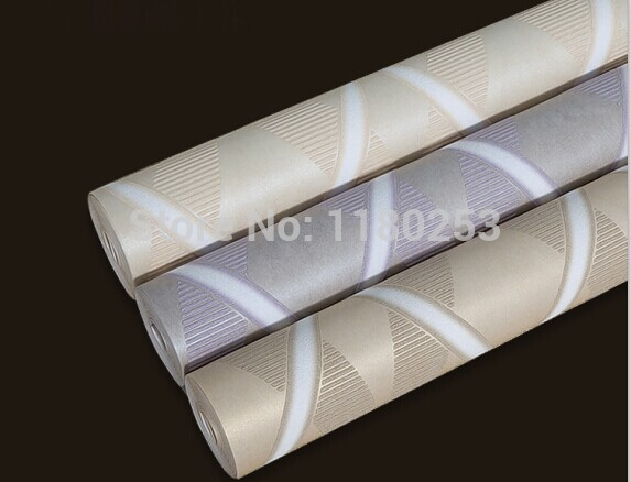 Modern Striped decoration Wallpaper Roll papel de parede poom Non Woven Living Room &amp; Bedroom Wall Paper papel de parede 3d<br>