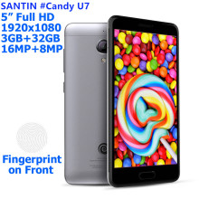 SANTIN #Candy U7 metal mobile phone smartphone octa core mtk6753 gps 3GB 3 GB RAM 32 GB 4G LTE android mobile phone smartphone(China)