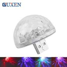 GUXEN USB Multi-coloured Light real madrid Mini Colorful Neon Light Decoration Color Change Along With Music Rhythm